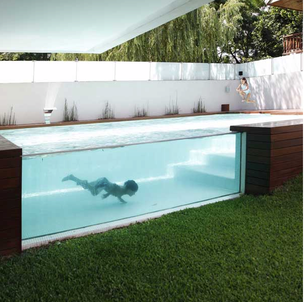 the pool reminds me of one of my other favorite swimming pools i have many that within the brazil slice house by procter rihl shown below